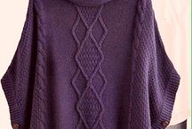 poncho pattern knitted / ζακετες πλεκτες