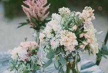 Mason jar set up / by Belak Flowers, Wilmington, DE