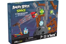 Angry Birds Building Sets from K'NEX! / Build, Play, Knock-down! Angry Birds™ toys from K'NEX allow you to bring your favorite app to life! Shoot the birds to knock down the evil Minion Pigs and beat the level. Continue to play for hours of building fun with Angry Birds toys from K'NEX! / by K'NEX Brands