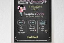 Chalkboard - Quadro Negro / Chalkboard personalizados para todos os tipos de ocasiões.