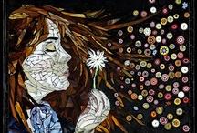 Mozaiek / het leven is een mozaiek van gevoelens / by Marga Timmers