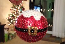 christmas sequined ornaments