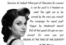 Of course I'm feminist.