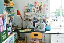 sewing/art space