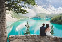 Moraine Lake Weddings / Photos of Moraine Lake weddings by ENV Photography #weddingphotography #mountainweddings #morainelake