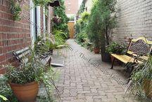 long narrow courtyard
