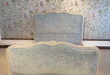 Antique Upholstered Beds