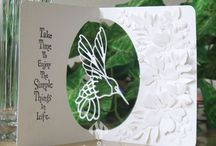 Cards, hummingbird