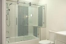 Proline / The Century Glass Proline, AKA Barn Door can update your bathroom today.