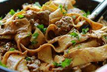 Pasta recipes / Spaghetti, lasagna, tagliatelle, etc. Pasta recipes
