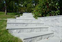 Stödmurar och trappor
