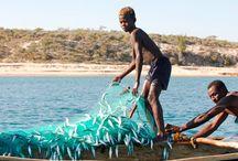 Les pêcheurs de Madagascar / Pour pêcher la majorité des pêcheurs malagasy utilisent encore les pirogues traditionnelles.
