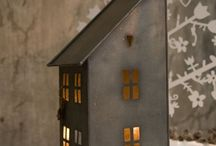 Tin light  houses for Christmas