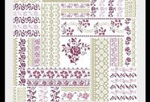 AQUARELLE / Virtual Shop Cross Stitch Chart By Angie Designer --- COPYRIGHT ALL RIGHTS RESERVED REPRODUCTION IN ANY SALE OR FORM WITHOUT PERMISSION IS PROHIBITED ---
