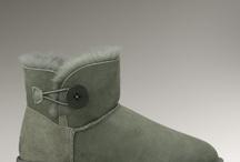 Ugg Boots WOMENS MINI BAILEY BUTTON GREY