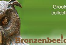 Uilen beelden / Bronzen uilen beelden voor in huis of in de tuin.