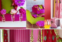 tricia guild / I love tricia guild. Beautiful gorgeous interior design, fabric, curtains, cushions. Colour accentuates everything!