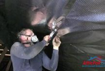 Radiant Barrier Attic - Staple Up / The Staple-Up (also known as the Open-Ridge) method is the standard method used most often for radiant barrier foil installation.