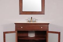 "HWM-203-C-36 36"" Single Bathroom Vanity Cream Marble"