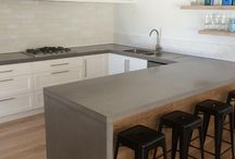 concrete benchtops kitchen