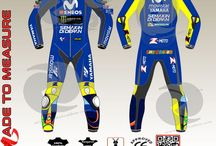one piece yamaha movistar leather suit similar to valentino rossi in motogp 2018