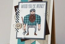 Stampin up wood you be mine
