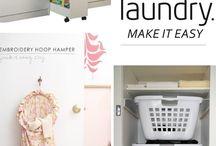 Ordnung Haushalt / Ideen, um Wäsche, Haushaltsbedarf, Putzmittel und Co sinnvoll zu ordnen. Für die Küche, den Putzraum, die Abstellkammer, den Waschkeller etc.