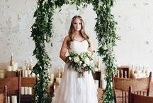 Wedding  Decorations and Ideas / Decorations for Ceremony.  Church Pews, Ceremony Alter, Etc...