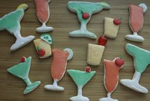 Cocktail Cookies / Sugar cookies aren't just for kids anymore.  These cocktail sugar cookies are made with flavorful alcohols like amaretto, irish creme, tequila and others.