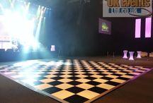 Black & White Dance Floors / Our Elegant Black & White Chequered Dance Floors