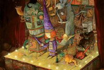 shaun tan / Shaun Tan is an amazing illustrator.  if you purchase his books you won't be sorry! my favorites are The Arrival and The Red Tree - both books to lose yourself in. / by Megan Smith
