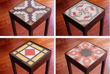 Muebles con mosaicos