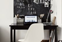 Home Office Inspiration / For all those that work from home. A tribute to their spaces.