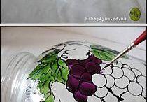 vasi di vetro dipinti