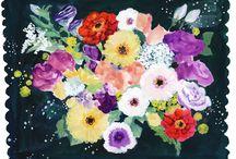 flower _simple_ / コラージュモチーフのお花部分を大きく描いたものです。