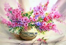 Цветы в живописи / Живопись - Цветы / Painting Flowers