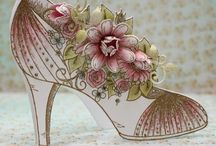 all glammed up shoe cards