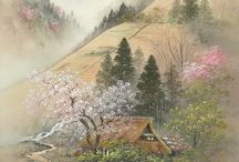 Japan  ( painting, nature , photo)