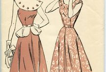 vintage clothes and pattern