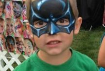 Superhero facepaint