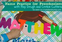 Name Practice for Preschoolers / Are you looking for name practice for preschoolers? Here are great ideas to try together at home.  / by Crystal (crystalandcomp.com)