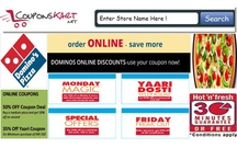 Dominos Pizza Coupon / Dominos Pizza coupons are available at http://www.couponskart.net/dominos-coupons  Enjoy upto 25% off - Also, buy one get one free offer on Pizza !