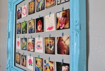 Fun ways to display pictues in the home / by Angela Crutcher