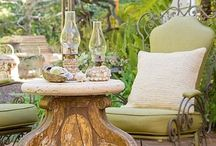 Patio/Porch/Garden / Cozy charming out doors / by Cheryle Mc