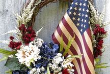 July 4th wreaths and deco