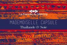 Collection Capsule - 20 ans / La Fiancée l'a rêvée et l'a faite ! Sa collection unique, conçue pour ses 20 ans en réinterprétant sur des basics les broderies et tissages des peuples Hmong et Akha. Série limitée, originalité assurée !   Pour en savoir plus, rendez-vous sur : http://www.lafianceedumekong.fr/20-ans/collection-capsule/