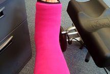 Gimp Girl Probs / Foot cast ideas