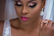 Ethnic bridal / Dark skin makeup and hair