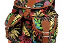 Jungle Bag - Big Backpack / Beautiful Jungle Backpack with two external pockets for those small items and two internal pockets where one comes with a zipper. This backpack is very comfy and its good enough to carry all the school supplies.   Each backpack featuring faux brown leather trim, canvas material, and adjustable shoulder straps. This cute backpack is finished with a drawstring closure, funky orange lining and several interior and exterior pockets.