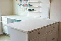 Craft Room Ideas / Hints, tips, nudges, ideas...for my wife's new craft room.